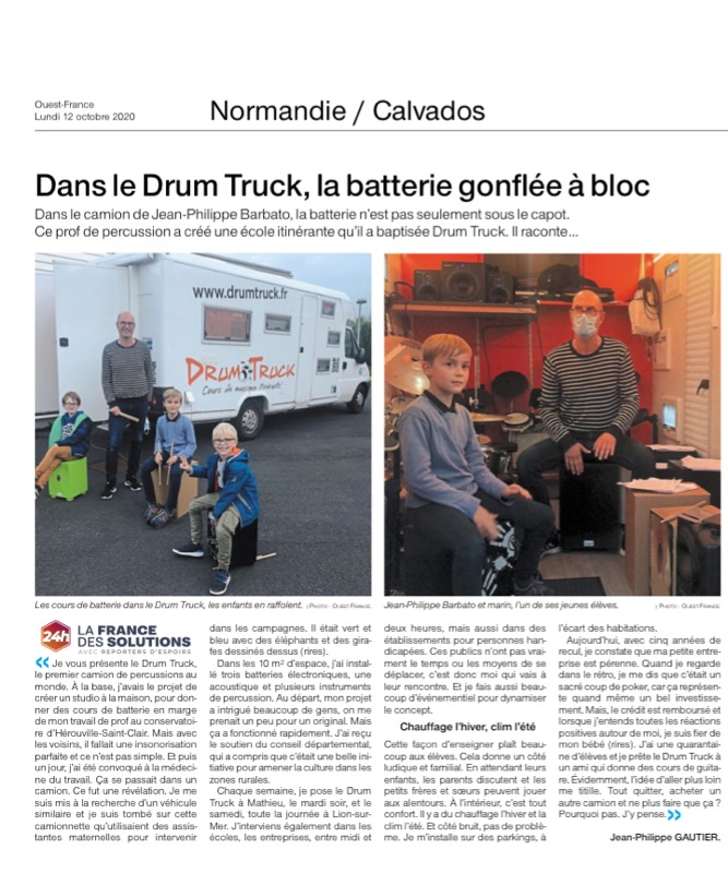 article ouest france 10/10/2020